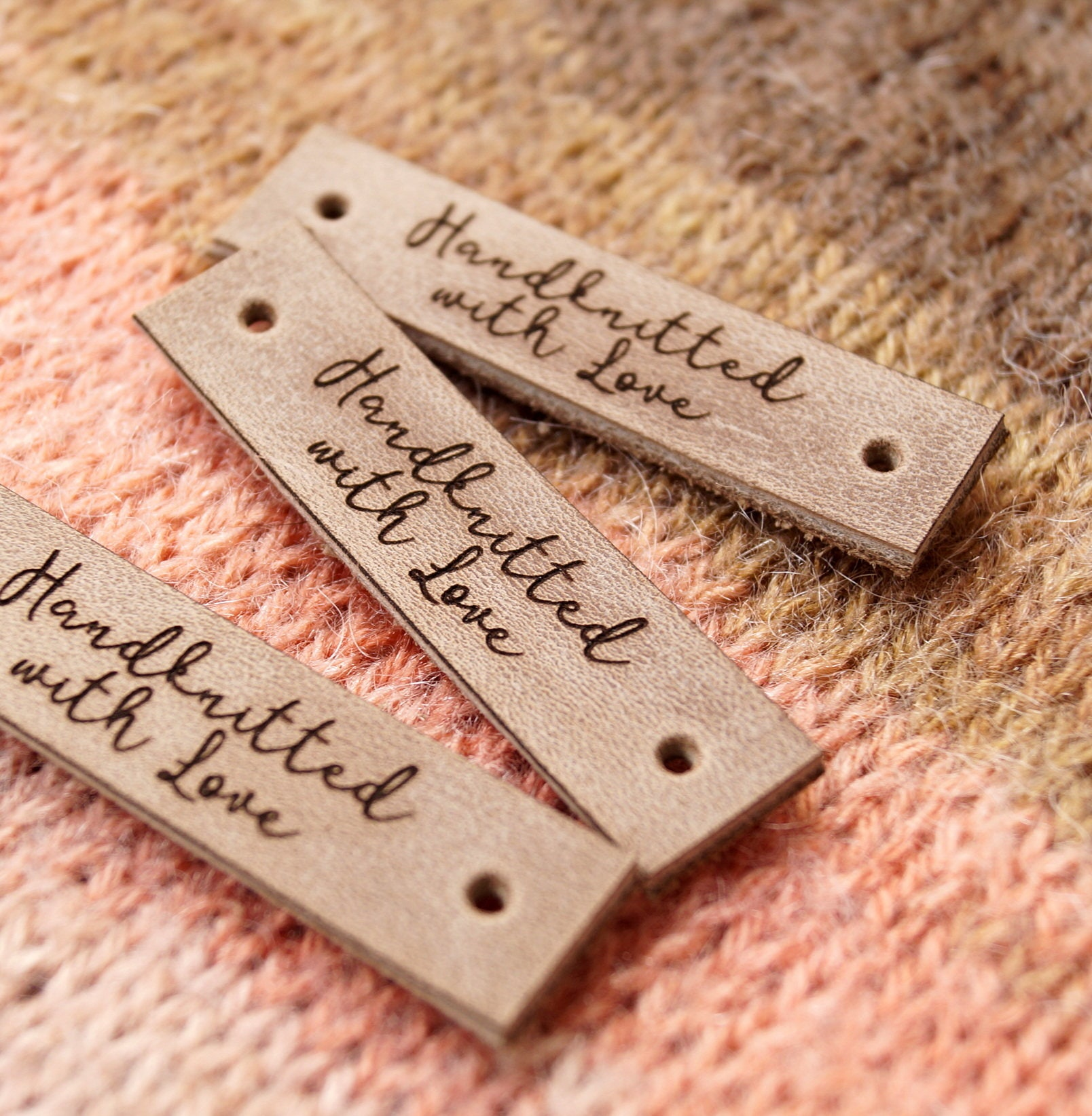 This is a photo of Juicy Personalised Knitting Labels Uk
