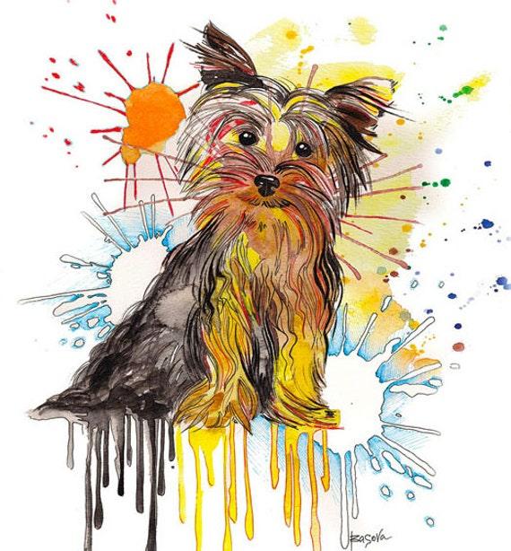 Fine Art Print Yorkie Yorkshire Terrier