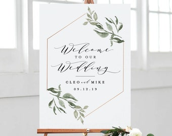 photo relating to Welcome Signs Template known as Marriage welcome signal Etsy