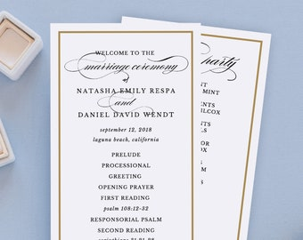 programme template for wedding