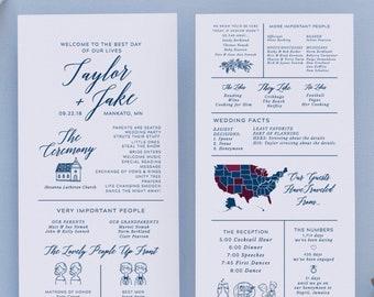 Wedding Programs Template | Wedding Program Template Etsy