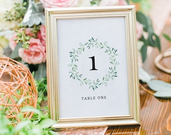 greenery table numbers rustic table numbers wedding table etsy