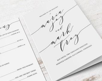 Jewish Wedding Program Etsy