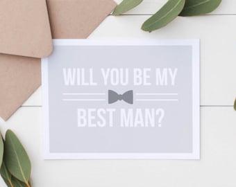 SALE Will You Be My Best Man Card - Groomsmen Gift - Will You Be My Best Man - Best Man Proposal - Groomsman Card