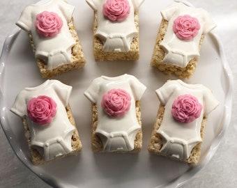 Onesie Rice krispies treats