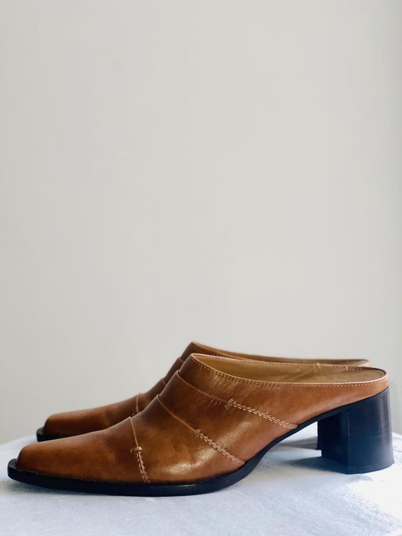 Leather Mules Y2K 90's Cowboy Boots Western - image 2