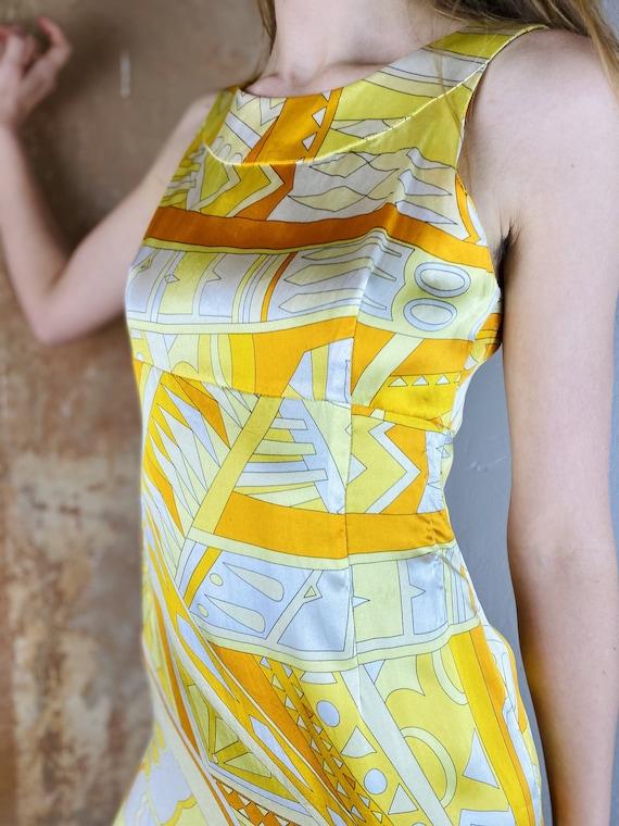 60's Italian Pucci Silk Dress Emilio Pucci Limone