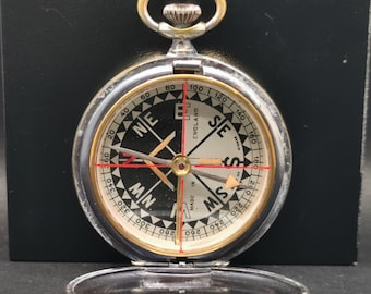 Rare British Military Compass, Armstrong Manchester Pocket Compass