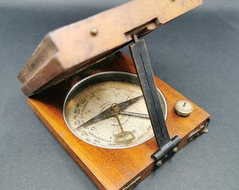 """WWI French Compass Alidade """"Systeme du COLONEL PEIGNE"""""""