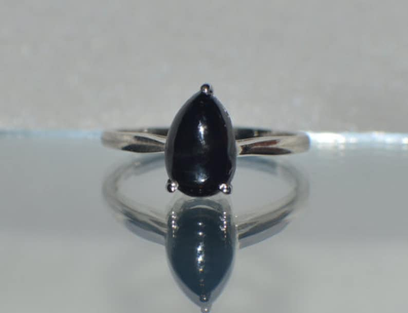 Natural  Indian Black  Diopside  in Platinum Overlay Sterling Silver Gorgeous 1.25ct