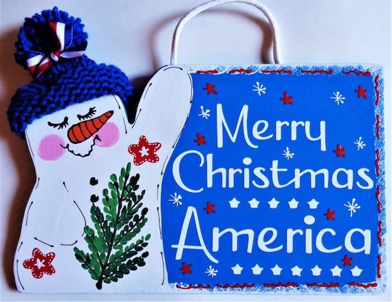 SNOWMAN Seasonal MASON JAR SIGN Wall Art Door Hanger Plaque Winter Christmas