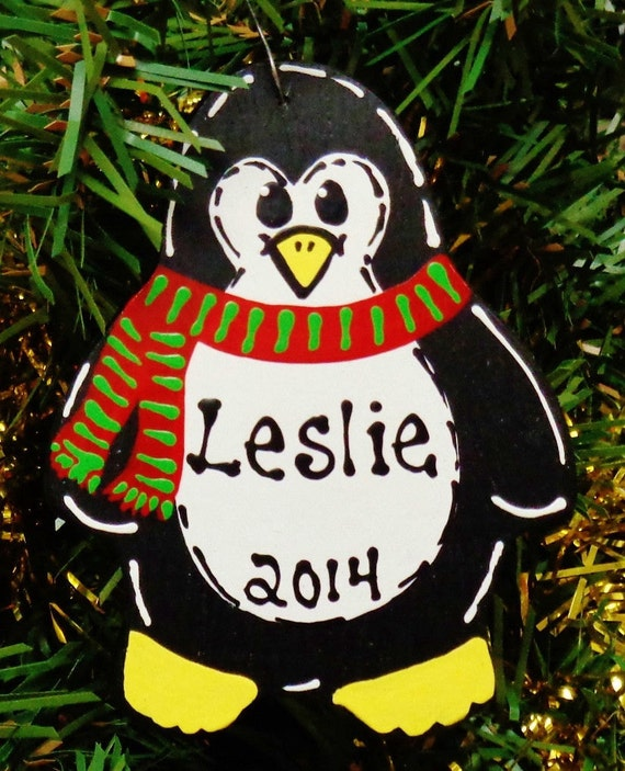 U Choose Name & Date Personalized Christmas PENGUIN