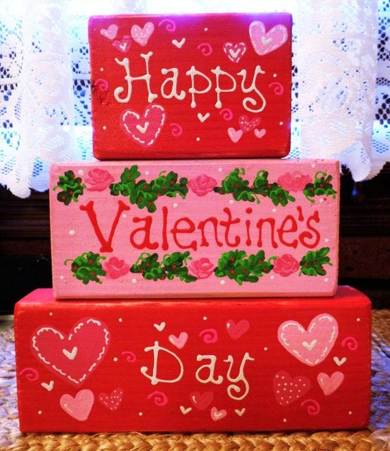 HAPPY VALENTINES DAY    wood sign primitive