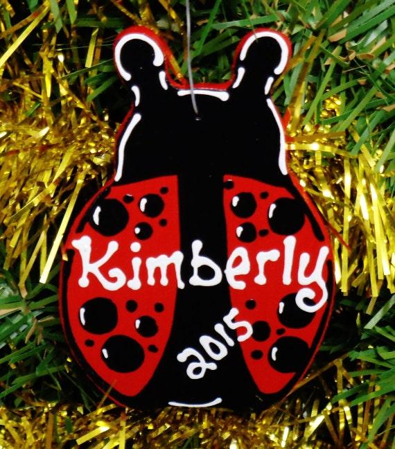 U Choose Name & Date Personalized Ladybug Christmas