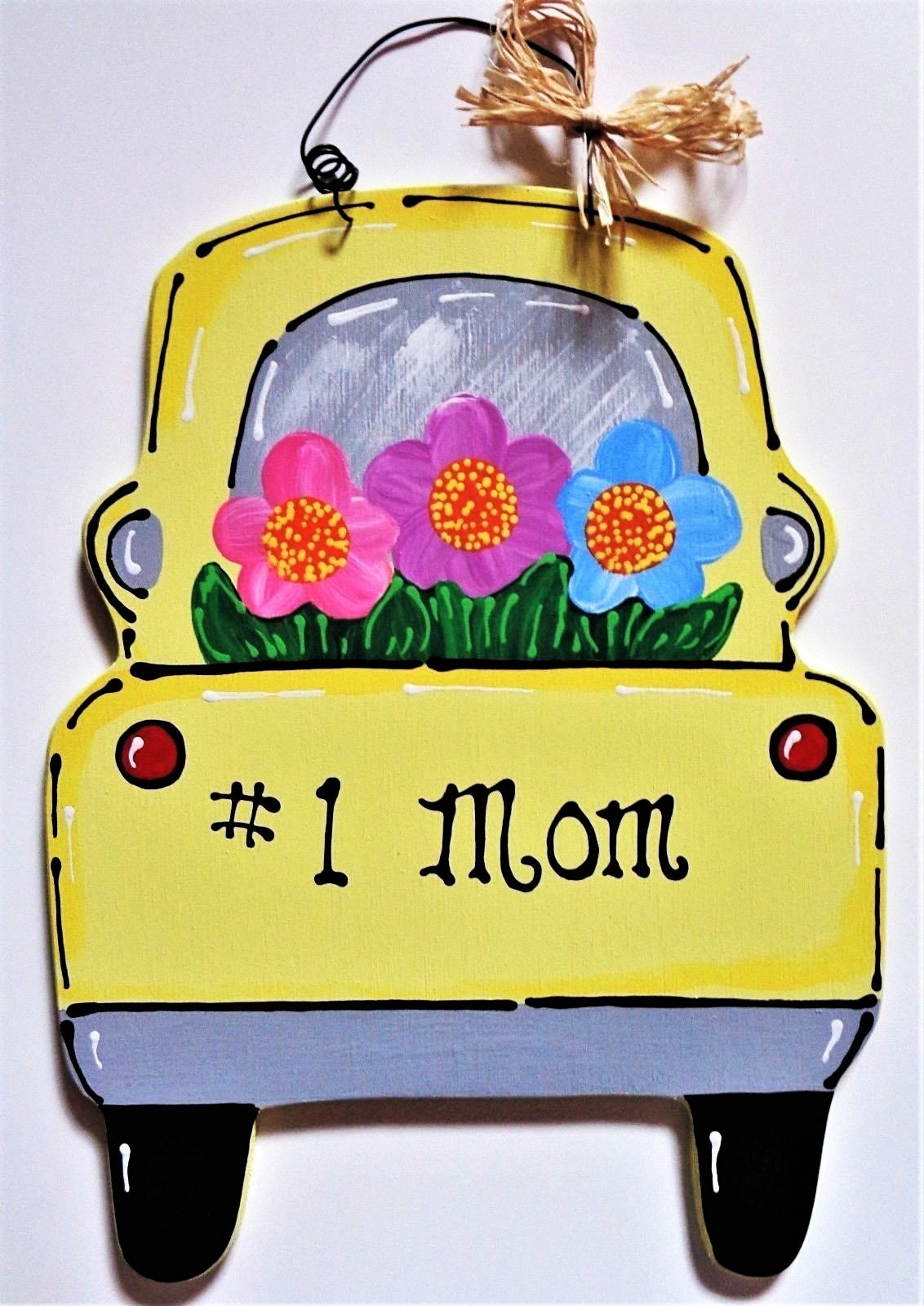 Number One Mom VINTAGE STYLE Mother\'s Day TRUCK Sign Wall | Etsy