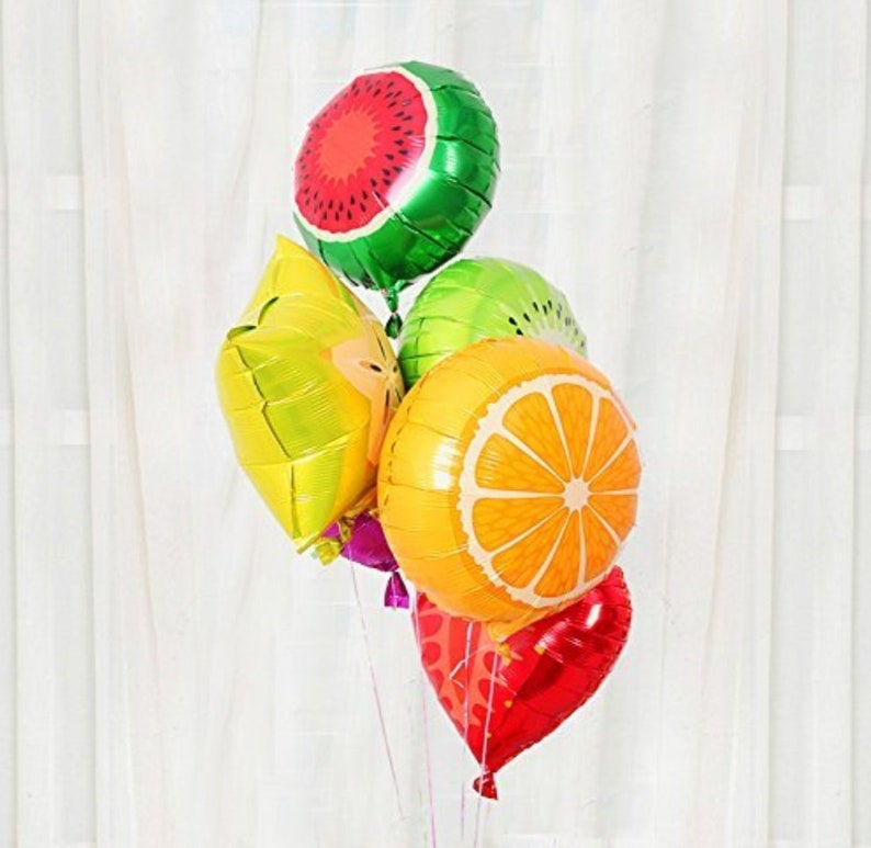 18 Tutti Frutti Fruit Party Foil Balloons Fruit image 0
