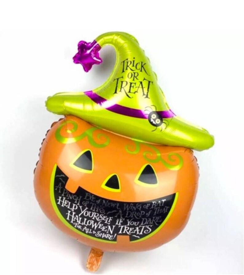 Large Pumpkin Balloon Trick or Treat  41 XL Pumpkin image 0
