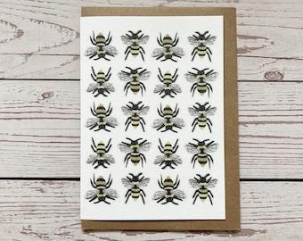 Repeat Bees Greeting Card,