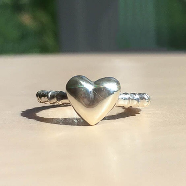 Silver Sweetheart Ring Silver Promise Ring In Solid Sterling Silver Size J12
