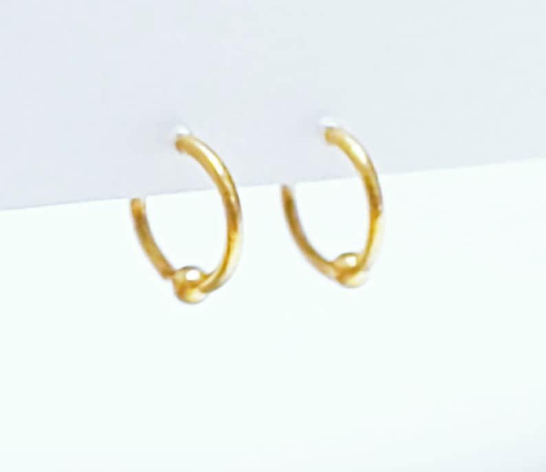 24k pure gold hoop earrings or hug earrings