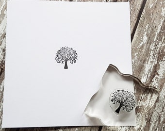 """Tree Stamp rubber stamps 1"""" or 2.5cm"""