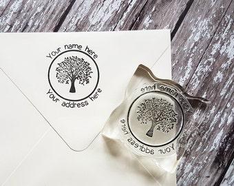 Custom address stamp tree, return address stamp, envelope stamp