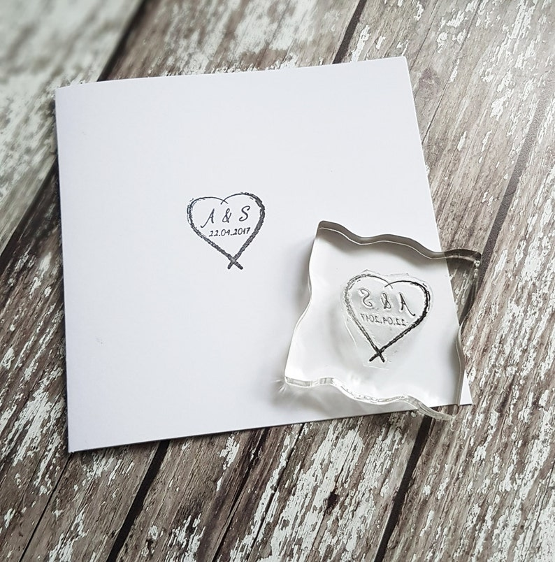 Custom Wedding Stamp DIY Initials