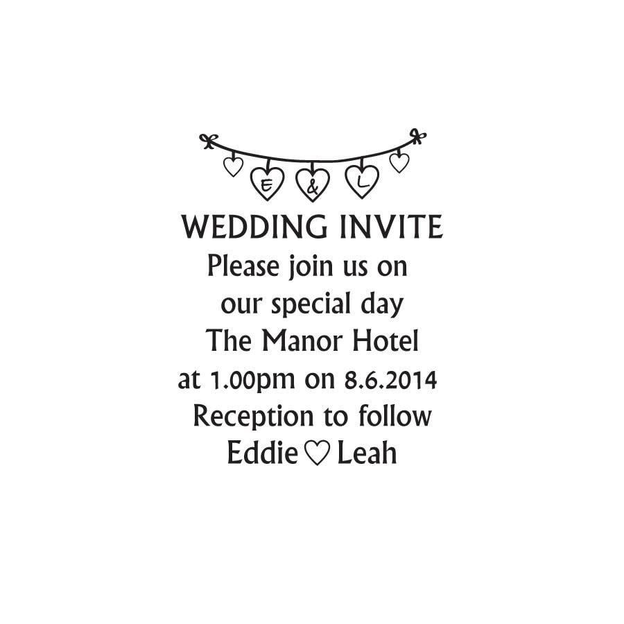 Mariage Invitation Invitation Mariage Timbre Mariage Invitation