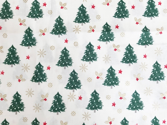 100/% Cotton Fabric Christmas Xmas Flowers Floral Fall In Love 135cm Wide