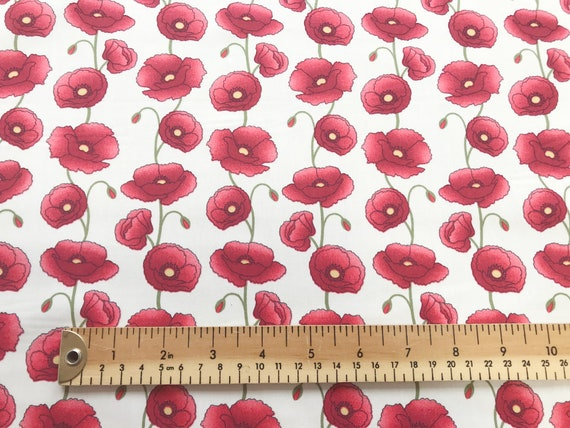 Quilt Cotton Fabric Travel to London British Style Ivory Fat Quarter Half Meter