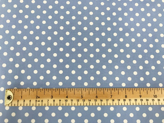 Polycotton Fabric NEW Craft Silver Grey Polka Dot Spot Metre MATERIAL