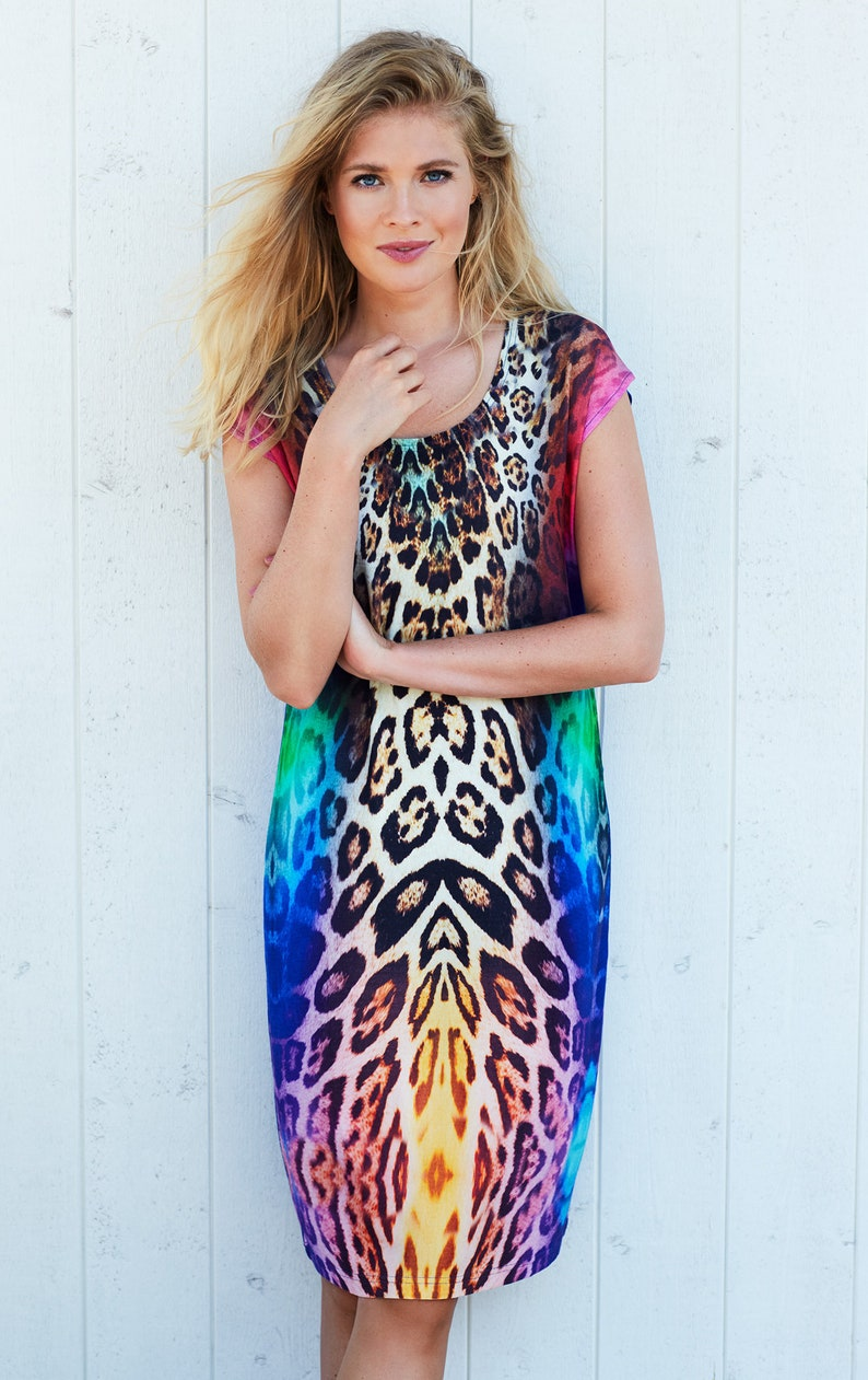 Beautiful Multi-Coloured Animal Print Beach Dress Cover Up Pastunette Beach