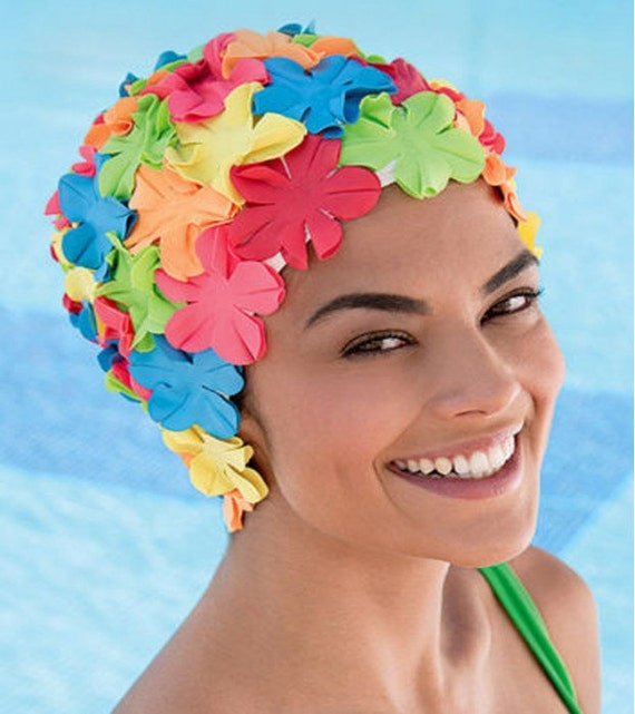 Retro Style Swim Cap - Fashy Swimming Hat - Multi-