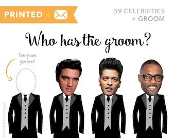 60 QTY – Who has the groom? – Printed plus Envelopes