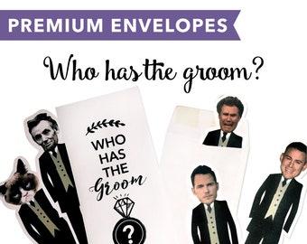Premium Envelopes – Who has the groom?