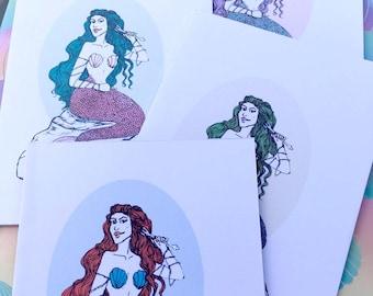Mermaid Greetings Cards