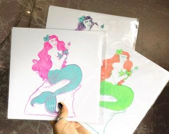 Summer Siren Greetings Card/Print
