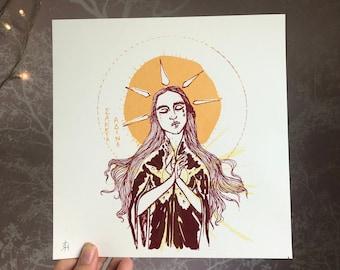 Sankta Alina Screen Print