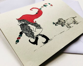 Screen Printed Alfie and Gnome : Pack of 5