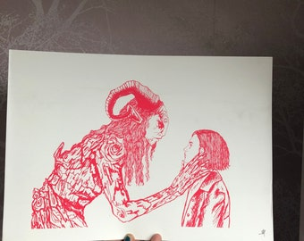Pan's Labyrinth Screen Print Red Edition