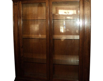 Large Inlaid Wood China Display Cabinet, Shipping Is Not Free!