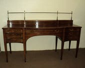 Antique Mahogany Hepplewhite Style Sideboard by Baker, SHIPPING is NOT free