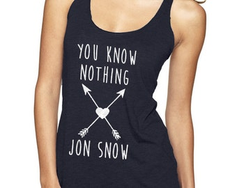 4577ad91a453c You Know Nothing Jon Snow tank top shirt arrows heart Game Ygritte wildling