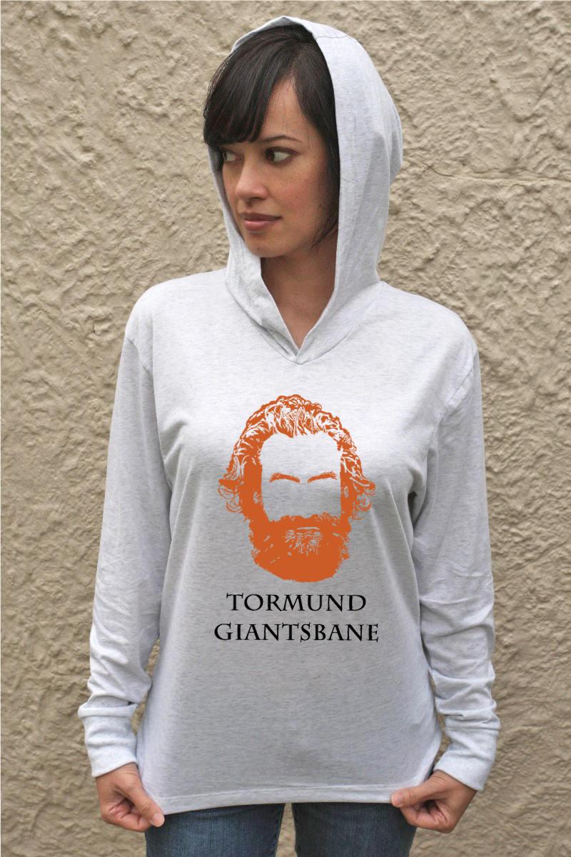 tormund giantsbane langarm hoodie t shirt mit kapuze oben. Black Bedroom Furniture Sets. Home Design Ideas