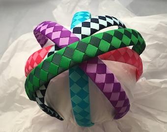 Rainbow Headbands, multi color headbands, pack of headbands, gift for girl, stocking stuffer, hair accessory, custom headband