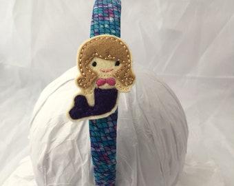 Mermaid, Headband, Mermaid Headband, Mermaid accessory, Hair Accessory, gift for girl, mermaid tail- mermaid party, purple mermaid