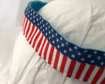 headband- Stars and Stripes- 4th of july- red white blue headband- patriotic- flag headband- Independence Day- American flag- elastic