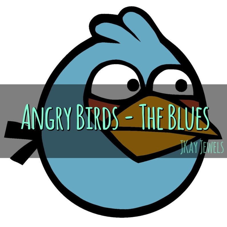 Angry Birds The Blues Silhouette SVG File For Die Cut Vinyl Machines and  Crafts