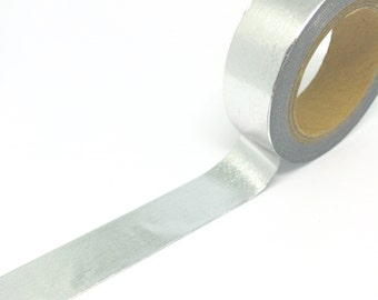 Silver Foil Washi Tape 15mm x 10m