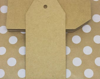 25 Brown Kraft Paper Gift Tags Price Tag Crafts 9.5 x 4.5cm